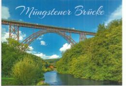 ALLEMAGNE.Müngsten Railway Bridge. North Rhine-Westphalia, Germany,length 465 M,Height 107 M - Puentes