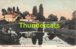 CPA BLATON EMBOUCHURE DU CANAL DE BLATON A ATH CARTE COLORISEE - Bernissart