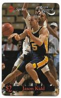 Sprint U.S.A., Basketball, Jason Kidd, $2 Calling Card, # Basket-6,  Expired In 1995, No Value - Sport