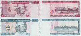 Myanmar 2020 Set 2 Pcs. 500+1000 Kyat - Pick NEW UNC - Myanmar