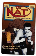 NAT U.S.A., Boxing, Jake Lamotta, $10 Calling Card, Limited Edition, # Lamotta-2,  Expired,  No Value - Sport