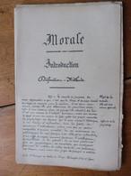 Rare Traité Manuscrit De MORALE ,issu De L'Ecole St François De Sales De DIJON ,...comprend 64 Pages (incomplétude) - Manuskripte