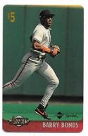 Sprint  U.S.A., Baseball, Barry Bonds, $5 Calling Card,  # Baseball-1,  Expired In 1997,  No Value - Sport
