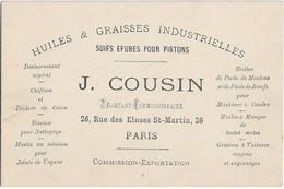 Paris : Pub J. Cousin Rue Des Ecluses St-Martin - District 10