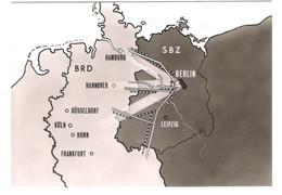 Germany - Die Verbindungslinien Von Berlin Nach Westdeutschland - BRD SBZ - Map - Landkarte - Maps