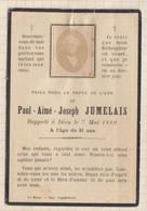 20A1259 IMAGE PIEUSE MORTUAIRE PAUL AIME JOSEPH JUMELAIS 1889 - Images Religieuses