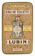 Carte Parfumée - LUBIN Eau De Toilette, Savon Et Poudre à L'Eau De Lubin - Anciennes (jusque 1960)