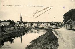 Fontenay Le Comte * Vue D'ensemble Prise Du Halage * Route - Fontenay Le Comte