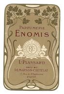 Carte Parfumée Calendrier  - L. PLASSARD,Demarson Chételat, Paris  - Parfumerie ENOMIS - Anciennes (jusque 1960)