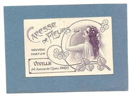 Carte Parfumée  - CARESSE De FLEURS, VIVILLE Paris - Anciennes (jusque 1960)