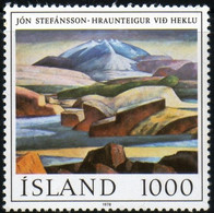 Island Islande 1978 Jon Stefansson Painter Peintre Painting Volcan Ekla N° 535 MNH Neuf Sans Charnière TB - Unused Stamps