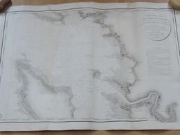 Carte Particulière Des Cotes De France (intérieur Du Pertuis D'Antioche Environs De La Rochelle...)levée En 1824 - Geographical Maps