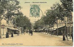 Carte Postale - CPA Dpt N°46 LOT - Ecrite Et Datée De 1907 - CAHORS - Boulevard Gambetta. - Cahors