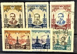 LITHUANIA 1930 - Canceled - Sc# C40-C45 - Air Mail - Litauen