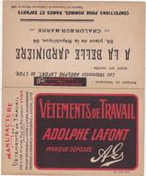 Calendrier 1932 - Magasin -  A LA BELLE JARDINIERE CHALONS-sur-MARNE / Vêtements ADOLPHE LAFONT - Calendars