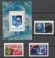 USSR 1984 Sol# 5559-62** TELEVISION FROM SPACE, 25th ANNIV. - Ongebruikt