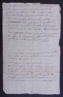 Manuscrit Du XVIIIe Siècle - Cantal - Saint-Flour - Protagonistes Dénommés Alexis Pons Et Autres - Manuskripte