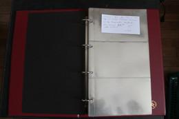 CLASSEUR CERES POUR FDC OU CPM REF 304 RELIURE OUATINEE BDX 30 PAGES - Stockbooks