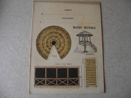 Protège Cahier, MAISON RUSTIQUE, Fin XIX - Book Covers