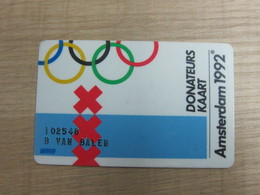 Amsterdam 1992 Olympic Donateus Card, - Niederlande
