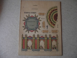 Protège Cahier,  TEMPLE INDIEN, Fin XIX - Book Covers