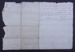 Manuscrit Du XVIIIe Siècle - Probablement Cantal - Saint-Flour - Protagonistes Dénommés Pierre Combes Et Autres - Manuskripte