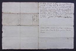 Manuscrit Du XVIIIe Siècle - Cantal - Saint-Flour - Protagonistes Dénommés Pierre Combes Et Autres - Manuskripte