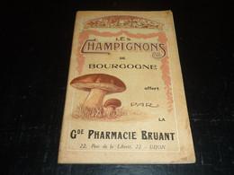 TRES BEAU CATALOGUE TRES ANCIEN SUR LES CHAMPIGNONS DE BOURGOGNE OFFERT PAR LA PHARMACIE BRUANT A DIJON (C.N) - Gastronomie