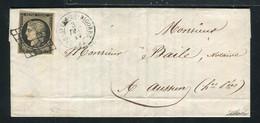 Rare Lettre De Rabastens De Bigorre Pour Ossun ( Hautes Pyrénées 1849 ) Avec Un N° 3 - 1849-1850 Ceres