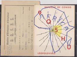 Congo Belge, 2 Cartes Radio Amateur, QSL. - Radio Amateur