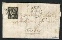 Rare Lettre De Maubourget Pour Tarbes ( Hautes Pyrénées 1849 ) Avec Un N° 3 - 1849-1850 Ceres