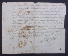 Manuscrit Du XVIIIe Siècle - Cantal - Saint-Flour - Protagonistes Dénommés Combes Et Autres - Manuskripte