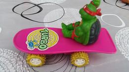 1988 Teenage Mutant Ninja Turtle Raphael On Pink Turbo Skateboard - Andere