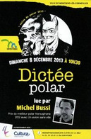 Carte / Flyer - BD - Salon Du Polar - Montigny Lès Cormeilles - 2013 - Blacksad - Juanjo GUARNIDO - ( CP49 ) - Ansichtskarten