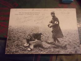 WWI CROIX ROUGE  CHIEN SANITAIRE A LA RECHERCHE DES BLESSES - Guerra 1914-18