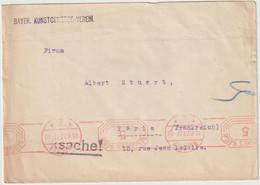Drucksache  5 Pf. Munchen -> France 1927 - Brieven En Documenten