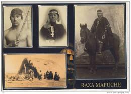 RAZA MAPUCHE -  Hombres De La Tierra - TRAIGUEN - CHILE, Native People , Large Format - Indianer