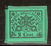 (Fb).A.Stati.Pontificio.1867.-2c Verde,nuovo,8 Filetti (97-19) - Kirchenstaaten