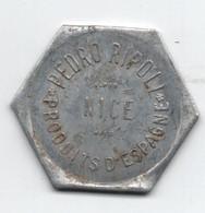 JETON MONNAIE DE NECESSITE 10F - PEDRO RIPOLL à NICE (ALPES MARITIMES) - Monetary / Of Necessity