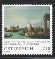 """Österreich 2020: """"Canaletto- Die Dogana In Venedig"""" Postfrisch (s. Foto) - 1945-.... 2a Repubblica"""