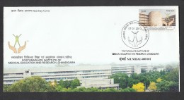 INDIA 2013  FDC, Post Graduate Institute Medical Research, Chandigarh,  Mumbai Cancellation - FDC