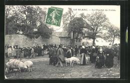 CPA Le Blanc, Le Champ De Foire - Le Blanc