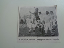 """Origineel Knipsel ( 7063 ) Uit Tijdschrift """" Ons Volk """" 1930 : Voetbal  Football  Gent - Turnhout - Non Classés"""