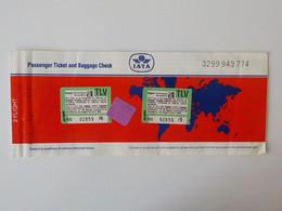 1986 Aviation Civile IATA Carte Embarquement Brussels Tel Aviv  EL AL Israël Airlines - Bordkarten