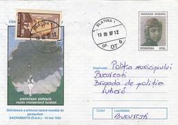 SPORTS, PARACHUTTING, SMARANDA BRAESCU, FIRST ROMANIAN WOMAN LICENSED, COVER STATIONERY, ENTIER POSTAL, 1997, ROMANIA - Fallschirmspringen