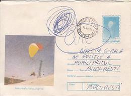 SPORTS, PARACHUTTING, ALOUETTE HAND GLIDER, COVER STATIONERY, ENTIER POSTAL, 1995, ROMANIA - Fallschirmspringen