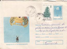 SPORTS, PARACHUTTING, UT 15PARACOMANDER PARACHUTE, NICE STAMPS, COVER STATIONERY, ENTIER POSTAL, 1995, ROMANIA - Fallschirmspringen