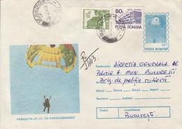 SPORTS, PARACHUTTING, UT 15PARACOMANDER PARACHUTE, NICE STAMPS, COVER STATIONERY, ENTIER POSTAL, 1994, ROMANIA - Fallschirmspringen