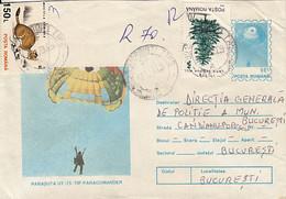 SPORTS, PARACHUTTING, UT 15 PARACOMANDER PARACHUTE, NICE STAMPS, COVER STATIONERY, ENTIER POSTAL, 1996, ROMANIA - Fallschirmspringen