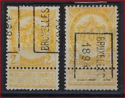 RIJKSWAPEN Nr. 54 Voorafgestempeld Nr. 9 A + B   BRUXELLES 1894   ; Staat Zie Scan ! Verkoop Aan 45 € ! - Precancels